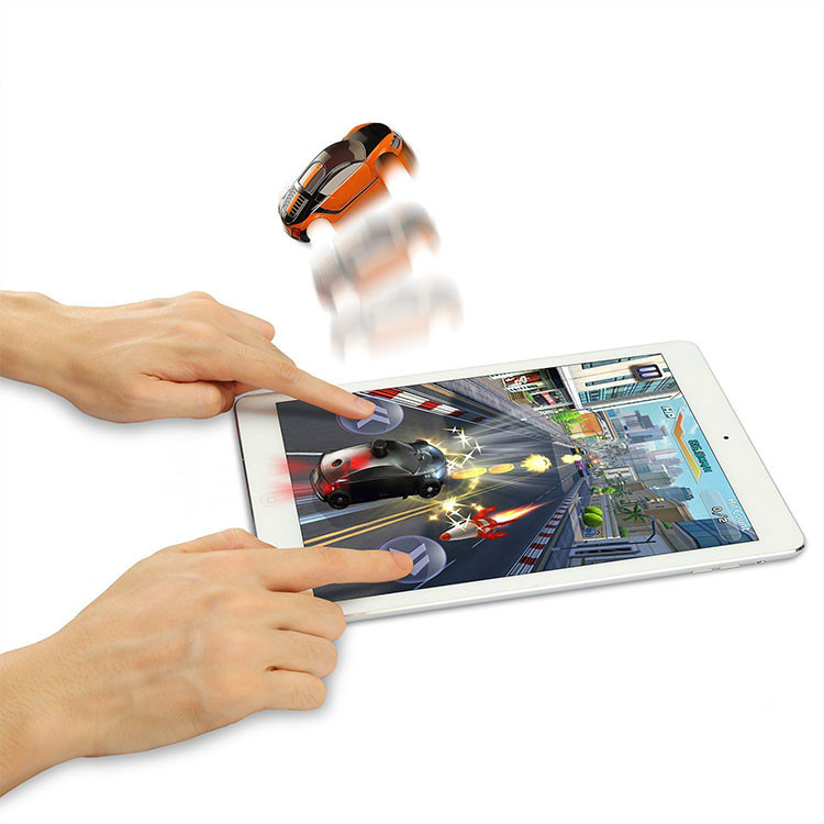 Mini Vibration Game Toy Racing Car for iPad, Android Tablet with Shining Real Fly Car Toy Race with Lights for Tablet PC Gift