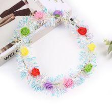 Glowing Headwear LED Flower Floral Wreath Headdress For Children Girls Women Wedding Birthday Party Bar Description: