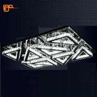 new modern LED crystal ceiling lamp plafon LED living room lights