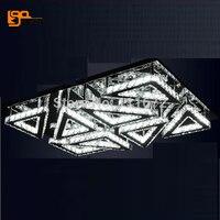 new modern LED crystal ceiling lamp plafon LED living room lights