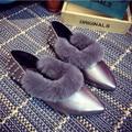 Zapatos de primavera y otoño nuevos zapatos de las mujeres bajas para ayudar a los zapatos Maomao Liu Ding señaló zapatos zapatos casual de oficina