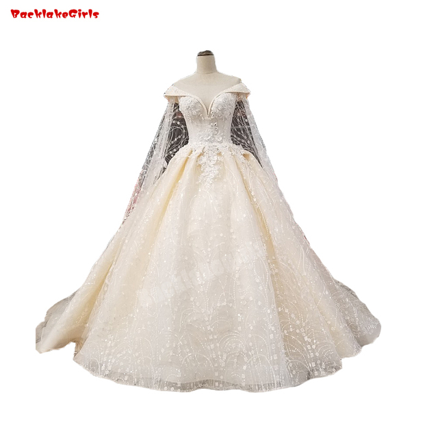 Backlakegirls Sweetheart Neckline Satin Wedding Dress White 3d Flowers  Inlay With Pearls Champagne 2018 Hot Sale Bridal Gowns 28df5af635b9