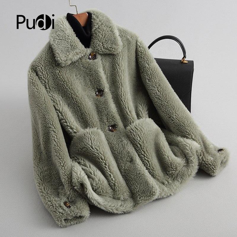 Hiver Réel Pudi Chaud Fourrure A18116 Dame Femmes Manteaux light Manteau De Green Camel Laine Avec Col pink Veste qxEwxIr