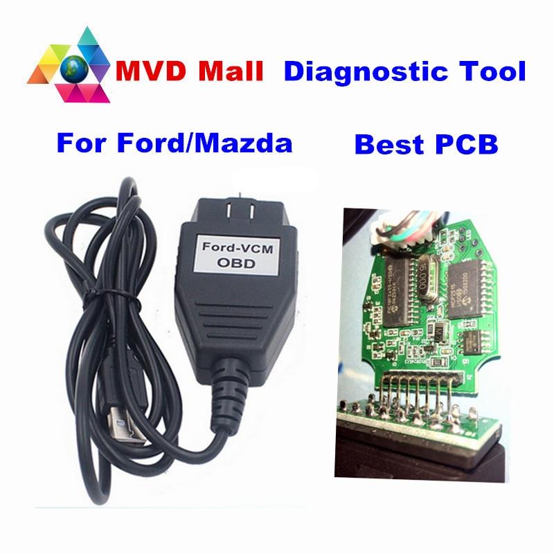 Prix pour Meilleure Qualité Pour Ford VCM OBD FOCOM Diagnostic Interface Pour Ford/Mazda Mini Version De VCM IDS Outil D'analyse OBD2 Câble Libèrent Le Bateau