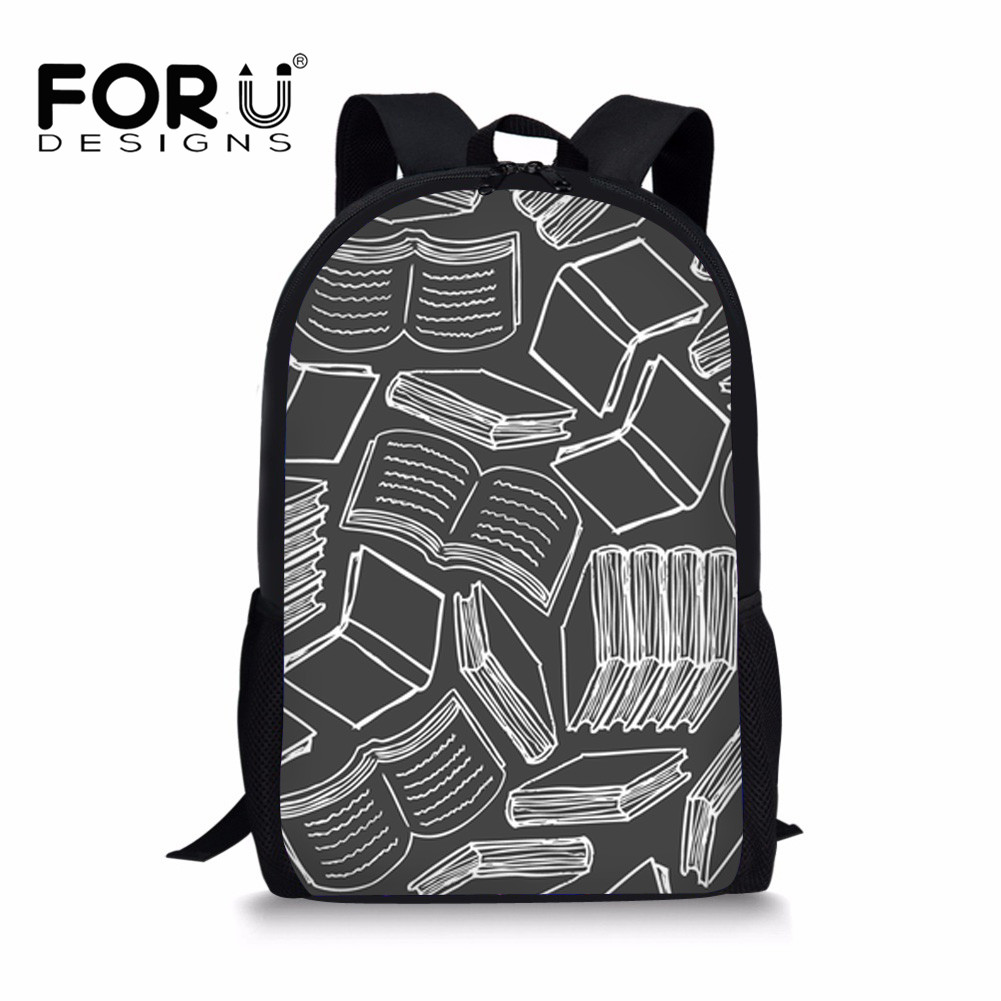 FORUDESIGNS Schoolbag For Teenage Girls Book Bag Printing Preppy Style School Backpack In Primary Students with Zipper 2018 New