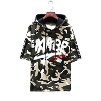 Loose Hip Hop t Shirt Men Cotton Military Funny Men Camouflage Shirt Hoodies Hipster South Korea Clothing Fathers Day Tops T0123