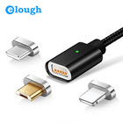 Elough E04 Magnetic Charger USB Data Cable For iPhone Micro USB Type C Mobile Phone Fast Charge Magnet Charger USB Cable 3 Plug