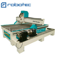 Robotec 1325 cnc router with rotary table diy cnc router kit 4 axis with CE certificate