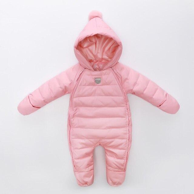 2016 новых прибыть ребенок зимняя одежда новорожденных девочек Толстые Теплые новорожденных bebes snowsuit вниз комбинезон детская одежда детские комбинезоны