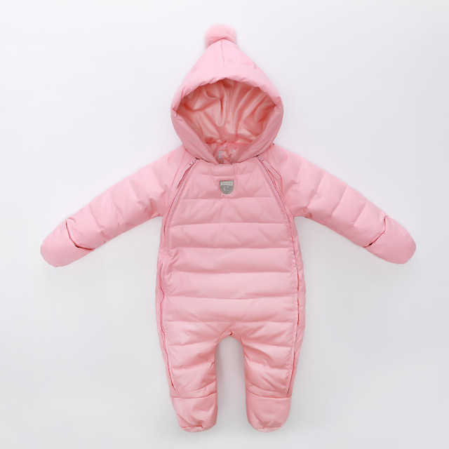 2016 new arrive baby winter clothes baby girls Thick Warm newborn snowsuit bebes down rompers kids clothing infant  jumpsuits