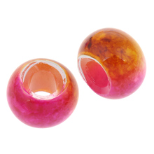 free shipping 10 pcs europ 18 colors fashion lampwork glass beads handmade charm bead fit