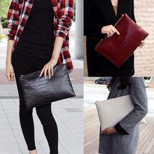 Fashion Women Elegant Party Clutches Crocodile PU Leather Envelope Clu