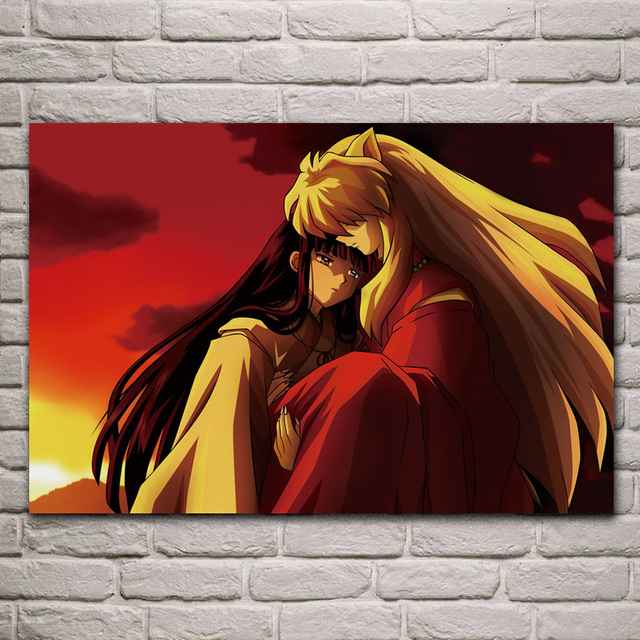 Incroyable Inu Yasha Naruto Hokage Japonais Manga Anime Fantasy KA318 Chambre Mur De  La Maison Décoration De