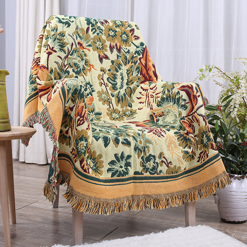 Ins Transvaal Daisy Thick Cotton Blanket Holiday Travel Picnic Cushion Office Chair Sofa Bedding Blanket Summer Beach Towel B15