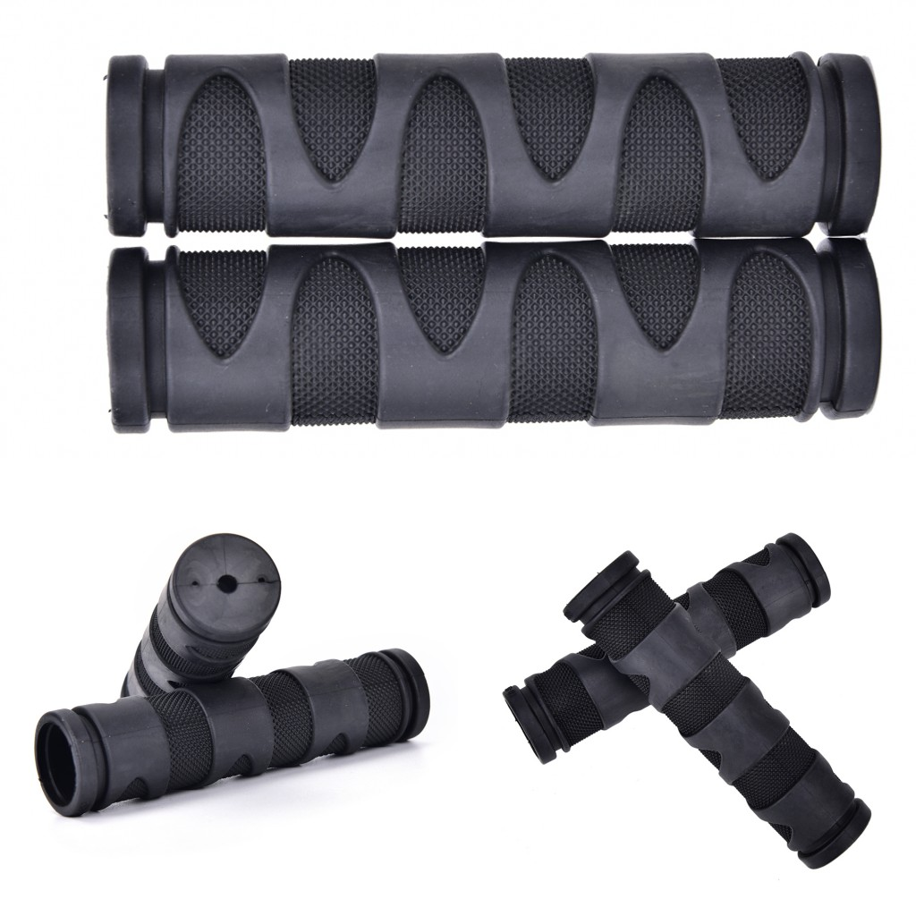 2019 New 2Pcs BMX MTB Bicycle Rubber Grips Cycling Mountain Bicycle Scooter Bike Handle Bar Rubber Soft End Grip