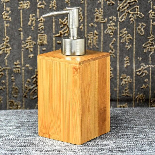 Bamboo Bathroom Accessories Bathrooms Liquid Shampoo Bottle Cosmetic