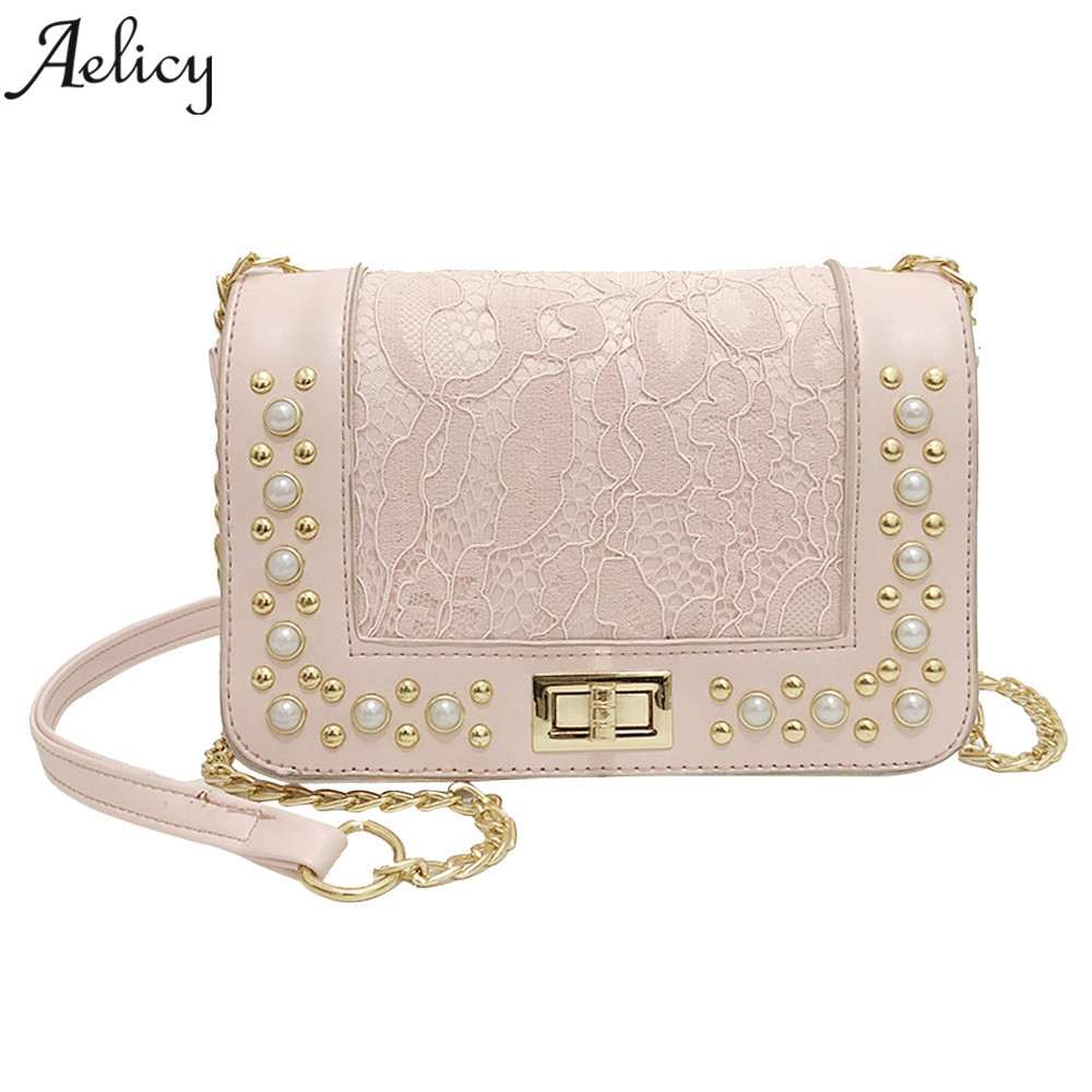 Aelicy New PU Leather Crossbody Bags for Women Pearl Women's Messenger Bags Handbags Women Famous Brand Sac a Main vintage pu leather bags crossbody bags for women messenger bags handbags women famous brand rivet belt buckle small shoulder sac