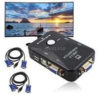 Usb2.0 2ポートkvmスイッチボックスマウス/キーボード/vgaビデオモニター1920 × 1440