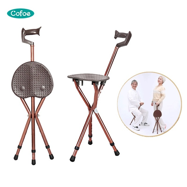 walking stick chair z lite folding cofoe adjustable aluminium cane with seat crutch stool telescopic 3 leg sitting tripod