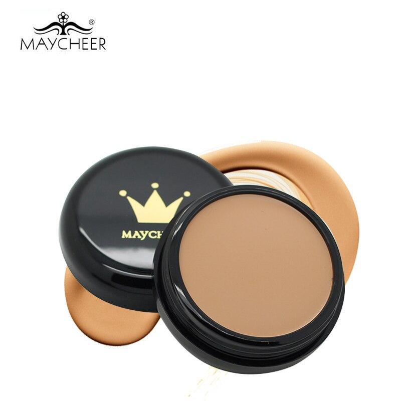 b39acf5f5 2017 maycheer cosmética Antiojeras Fundación crema camuflaje hidratante  aceite-Control maquillaje Primer contorno perfecta Paletas