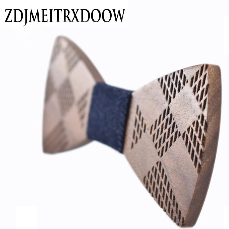 R.XIN 2017 High Quality Geometric ukiran kayu bow tie houten strik - Aksesori pakaian - Foto 2