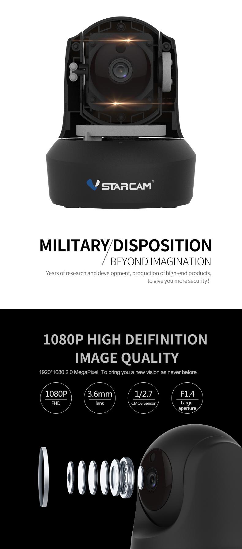 Vstarcam C29S 1080P Full HD Wireless IP Camera CCTV WiFi Home Surveillance Security Camera System Indoor PTZ Camera baby monitor 14