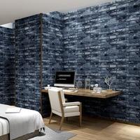 Papel De Parede 3d Stone Brick Wallpaper Roll Vintage Wall Paper Pvc Vinyl Wall Covering For