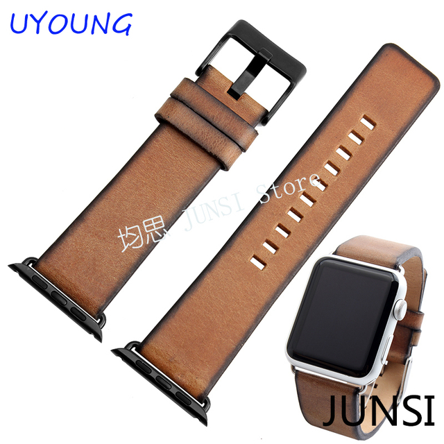New arrival Apple Smart Iwatch band 38mm42mm Quality Genuine Leather Watchband 22mm 24mm  Retro Leather Strap