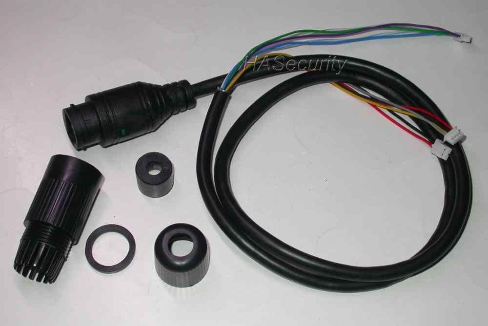 Cable LAN para Módulo de placa de cámara CCTV IP especial para POE Mid-Span 4/5 (+) 7/8 (-) Pines, conector a prueba de agua, LED de estado único