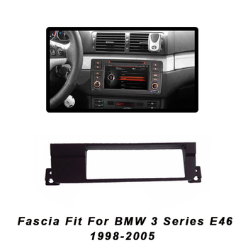 1 Din Car MP5 Radio Frame 2Din DVD Stereo Panel Fascia For BMW 3 Series E46 1998-2005 Dash Mount Refitting Trim Kit Frame CD Bez image