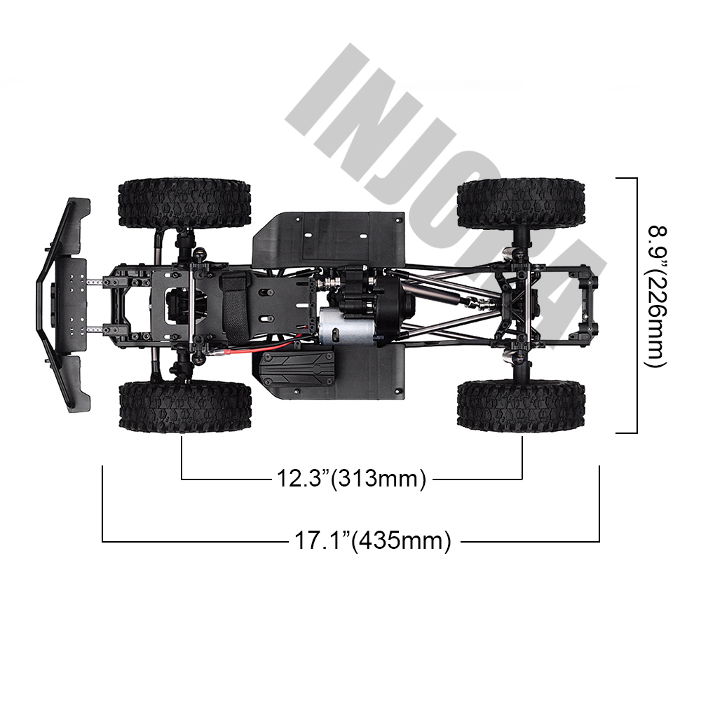 "Image 2 - INJORA 313mm 12.3"" Wheelbase Assembled Frame Chassis for 1/10 RC Crawler Car SCX10 SCX10 II 90046 90047-in Parts & Accessories from Toys & Hobbies"