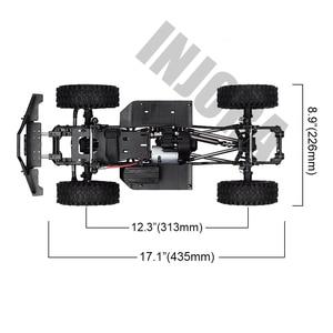 """Image 2 - INJORA 313mm 12.3 """"empattement assemblé cadre châssis pour 1/10 RC voiture sur chenilles SCX10 SCX10 II 90046 90047"""