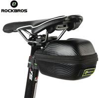 ROCKBROS Carbon Pattern Waterproof Outdoor Sports For All Bike Bicycle Tube Seatpost Bag Cycling Cycle Portable