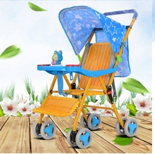 лучшая цена baby stroller high landscape light portable umbrella baby winter baby cars hand can take a folding folding stroller Rattan