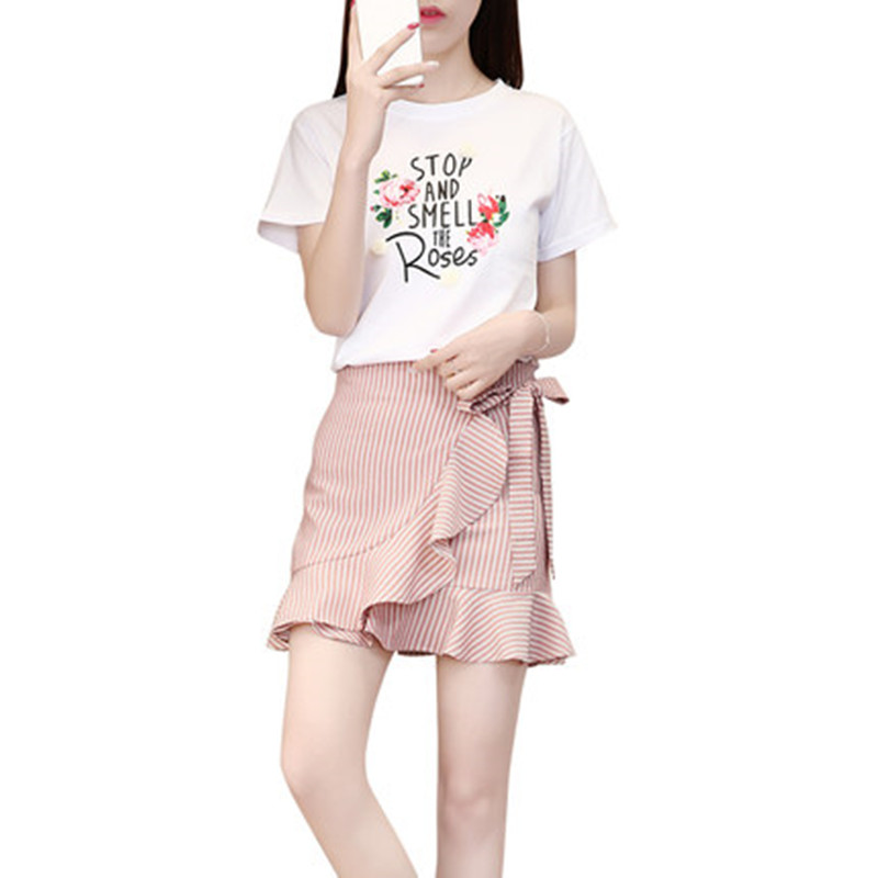 New children girl clothes sets summer letter print t-shirt +skirt 2pcs teenage girls clothing sets pattern age 14 15 16 18 19 20 teenage girls clothing sets for teens girl children summer half sleeves t shirts skirt pants 11 12 13 14 kids clothes 2pcs sets