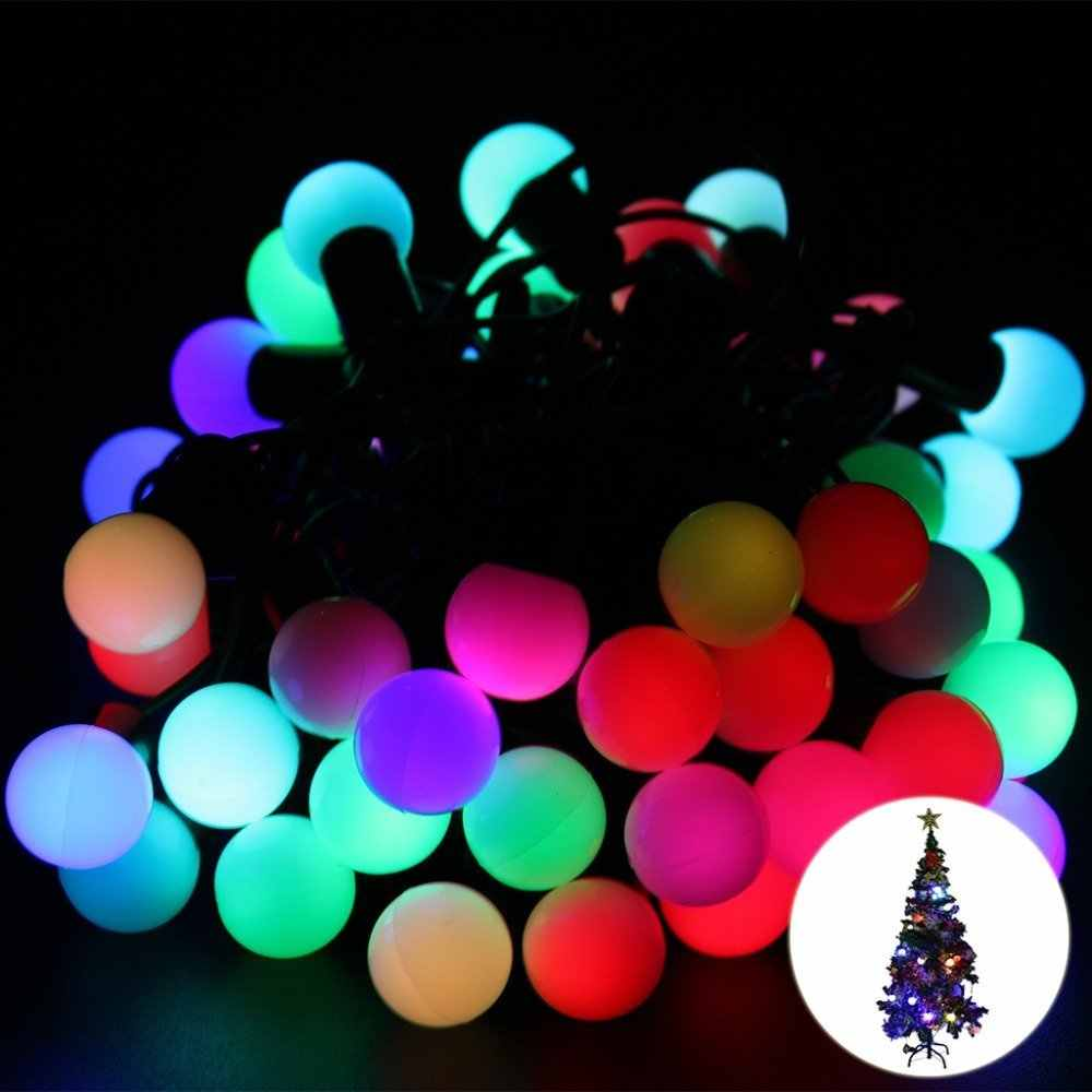 Free Christmas Lights.New Year Rgb 5m 50 Led Ball String Christmas Light Party Wedding Decoration Holiday Lights Free Shipping