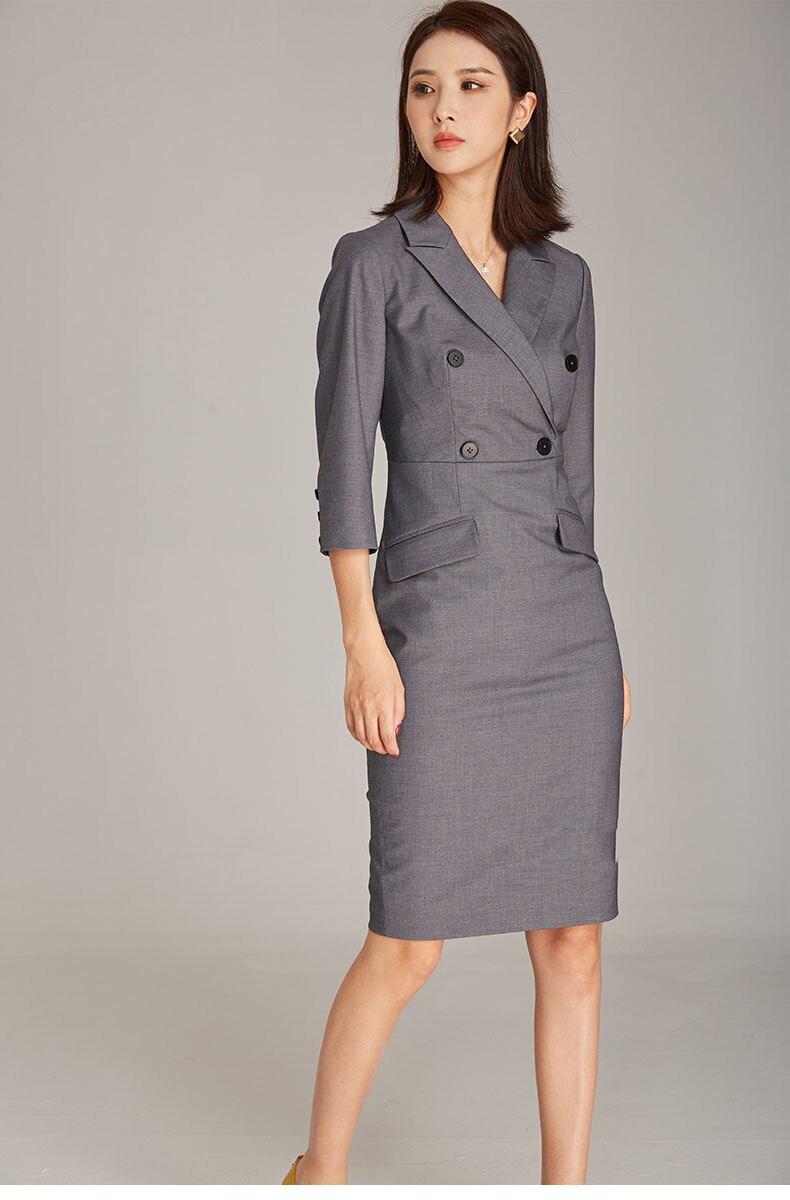 New Ol Women Blazer Dress Fashion Work Wear Women Clothing Dress