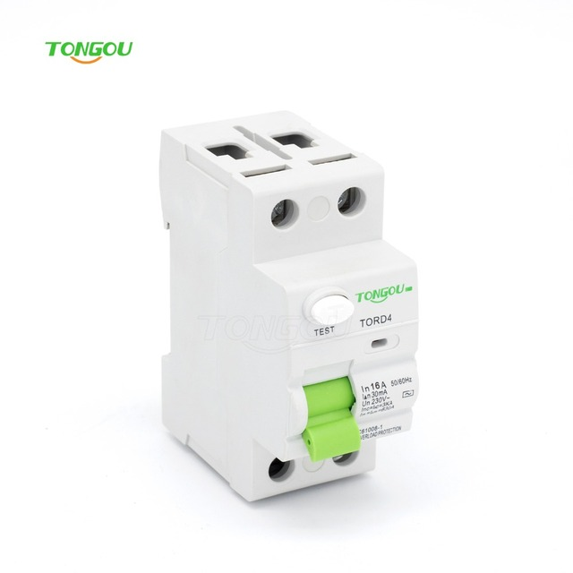 Exceptional 2P 16A RCCB RCD 30mA 110V 220V 230V~ AC Magnetic Type Residual Current  Circuit Breaker