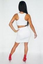New Arrivals 2017 Two Piece Set Sexy White Dress O-neck Vestidos Tropical Sleeveless Summer Party Dresses