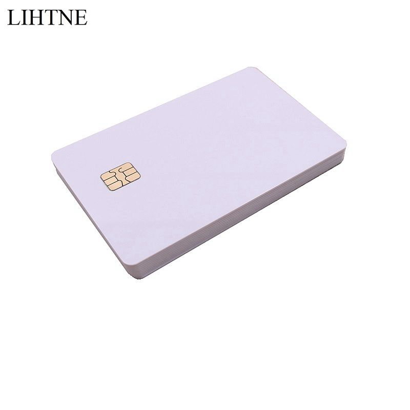 10PCS/lot Smart IC Cards SLE 4442 Chip Blank PVC IC Cards ISO7816 winfeng 2000pcs lot cmyk color pvc snap off keychain combo cards plastic die cut combo cards with barcode