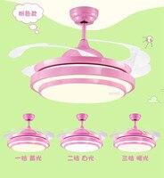 Потолочных вентиляторов лампы 36/42 дюйма СВЕТОДИОДНЫЙ детская комната мальчик футбол дистанционного управления 3 цвета вентилятор света де
