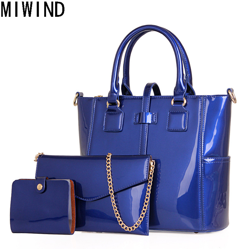 Luxury Patent Leather Handbags Women Composite bag Hand Bag Famous Brand Bag High Quality Vintage Female Shoulder Bags Bolsas 1