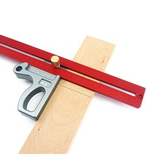 200/300/400mm 45 Degree Ruler Woodworking Height Scribe Gauge Measuring Tool