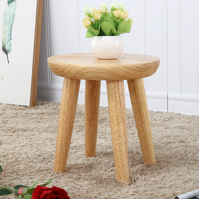 Staygold Chairs Solid Wood Stool Oak Creative Garden Stool Fashion  Household Small Bench Free Assembly Easy To Carry In Stools U0026 Ottomans From  Furniture On ...