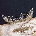 Высокого класса кристалл колонка корона королевы тиара позолоченные женщины аксессуары для волос подарки фотографии диадема свадебные анти-корона binglan