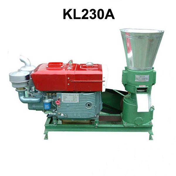 Pellet Press 22HP Diesel Engine KL230A Biomass Pellet Mill Animal Feed / Wood Pellet Machine With Electric Start