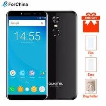 Oukitel C8 5.5 Pouces 18:9 Infinity Display Smartphone Android 7.0 3000 mah 2 gb RAM 16 gb MT6580 Quad Core empreinte digitale 13MP Téléphone Portable(China)
