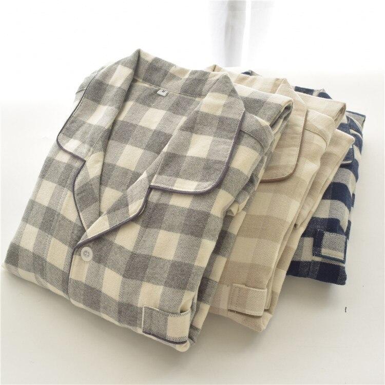 2019 New  Mens Cotton Pajama Sets Pijama For Men Mens Sleeping Pajamas 9346