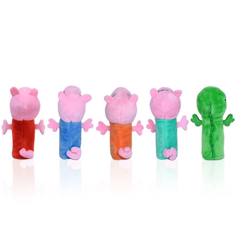 Genuine Peppa Pig Finger Puppets Plush Baby Toy children's Finger Puppets Educational Story Hand Puppet stuffed doll kids toy 36