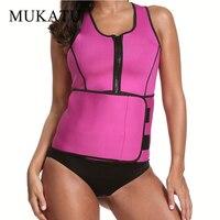 Neoprene Sauna Waist Trainer Vest Workout Shapewear Waist Cincher Slim Shaper Corset Adjustable Sweat Belt Women
